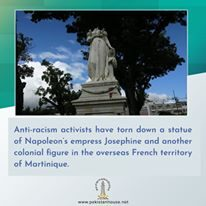 Activists destroy statue of Napoleon's empress